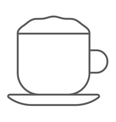 Cappuccino thin line icon coffee and cafe vector