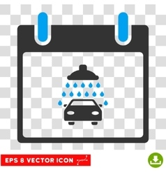 Car Shower Calendar Day Eps Icon vector image vector image