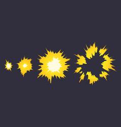Cartoon explosion effect effect boom explode vector