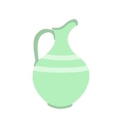 Ceramic jug flat icon vector