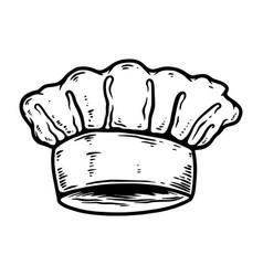 chef hat design element for logo label sign vector image
