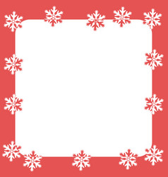 Christmas and new year with white snowflakes vector