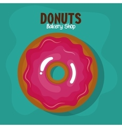 Delicious donuts bakery shop vector