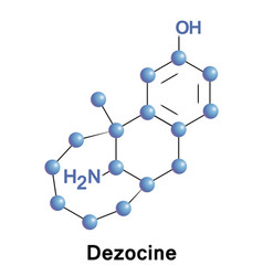 dezocine opioid analgesic vector image