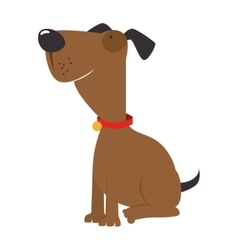 dog pet canine icon vector image
