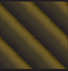 dots 3d golden seamless pattern halftone vector image