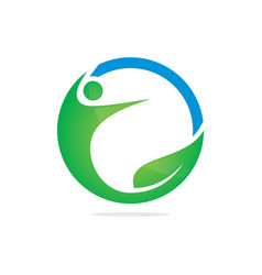 Eco people sport abstract logo image vector