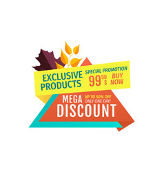 Exclusive offer mega discount vector