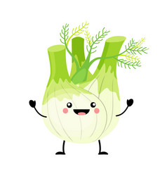 Fennel in flat style isolat vector