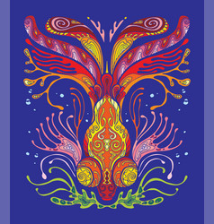 fish coloring book anti-stress vector image