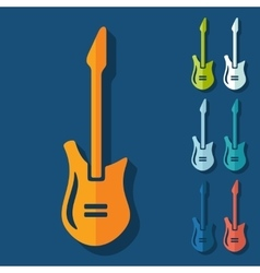 Flat design electric guitar vector image