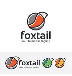 Foxtail logo design vector