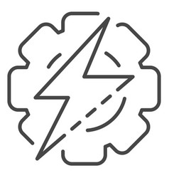 gear energy icon outline style vector image