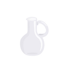 glass pitcher isolated on white background vector image