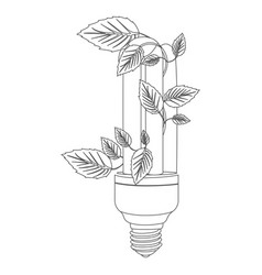 Grayscale contour with fluorescent bulb and vector