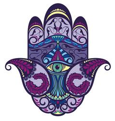 hamsa hand icon vector image