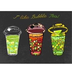 Hand drawn Bubble tea vector image