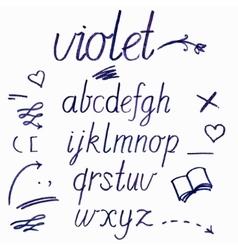 Hand drawn watercolor artistic font vector
