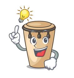 Have an idea conga mascot cartoon style vector
