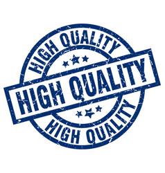 High quality blue round grunge stamp vector