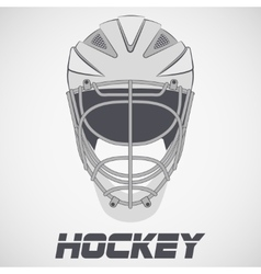 Hockey Helmet sketch vector