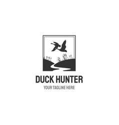 Hunting club retro label isolated on white vector