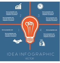 Idea Business Concept Light bulb infographic 4 vector