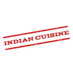 Indian Cuisine Watermark Stamp vector
