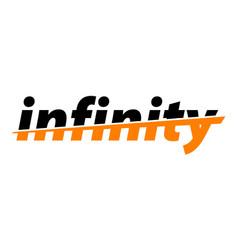 Infinity word emblem vector
