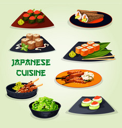 japanese cuisine icon for asian food design vector image