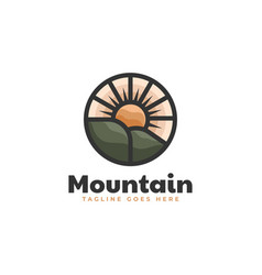 logo mountain simple mascot style vector image