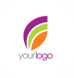 loop colored logo vector image