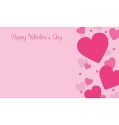 Love on pink backgrounds for valentine days vector