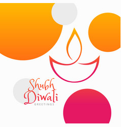 modern diwali festival colorful background vector image