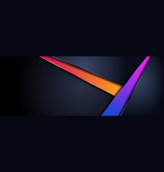 Modern futuristic dark navy background combined vector