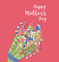 Mother s day greeting card or postcard template vector