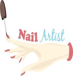 Nail Artist vector