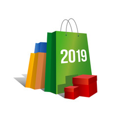 new year shopping - 2019 vector image
