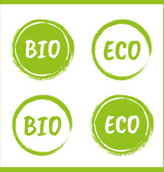 organic product label bio and eco icons vector image