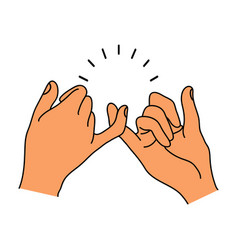 pinky promise hands gesturing vector image