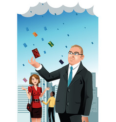 raining credit cards vector image