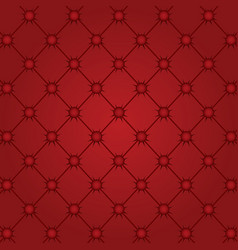 Red capitone tufted fabric upholstery texture vector