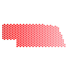 red dot nebraska state map vector image
