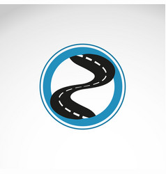 road curved highway with markings vector image