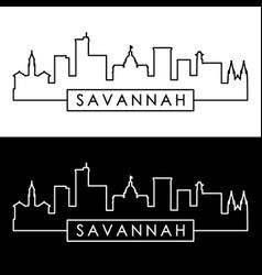 Savannah skyline linear style editable file vector