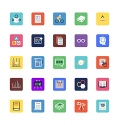 School and Education Colored Icons 5 vector