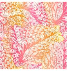 Seamless floral vintage pink pattern vector image