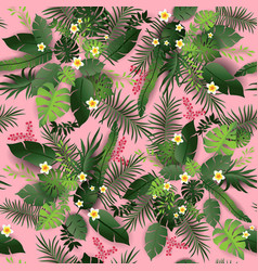 seamless pattern pink vector image