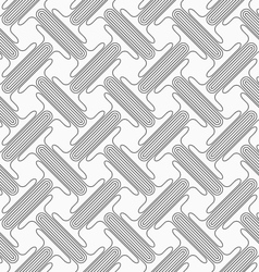 Shades of gray double T shapes with offset vector