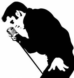 singer vector image